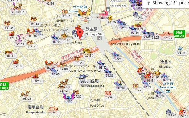 ポケモンGOで地図(マップ)に出現するポケモンって? ポケモンGOのゲーム画面では近くにどんなポケモンがいるのかわかりにくいですよね。突然スマホが振動して、画面を